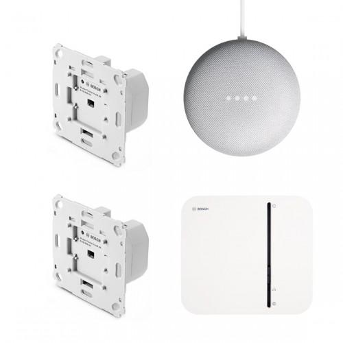 Bosch Smart Home - Starter Set Rollladensteuerung Unterputz + Google Nest Mini