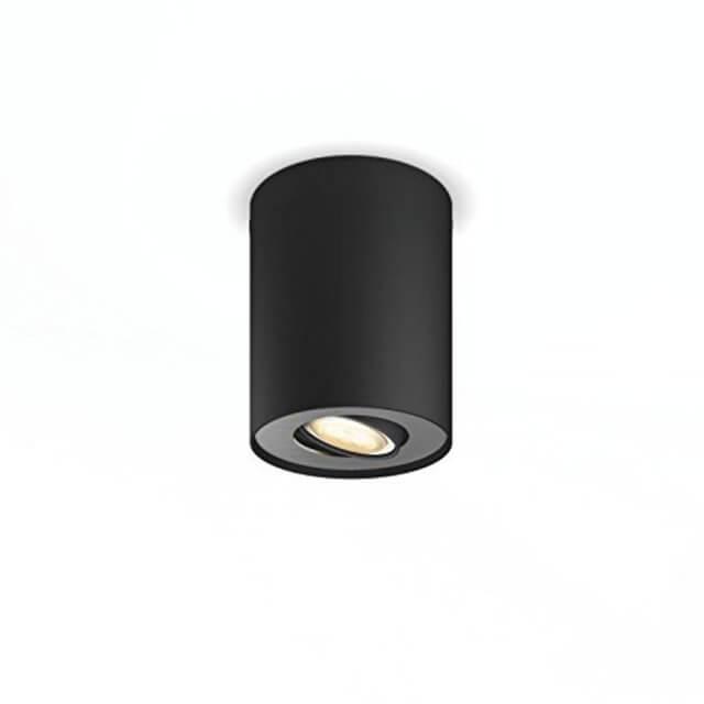 Philips Hue Pillar LED 1-er Spot 250lm in schwarz