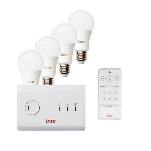 Innr Starter Kit: 4 x Innr Bulb RB 185 C + Gateway + RC 110 Fernbedienung