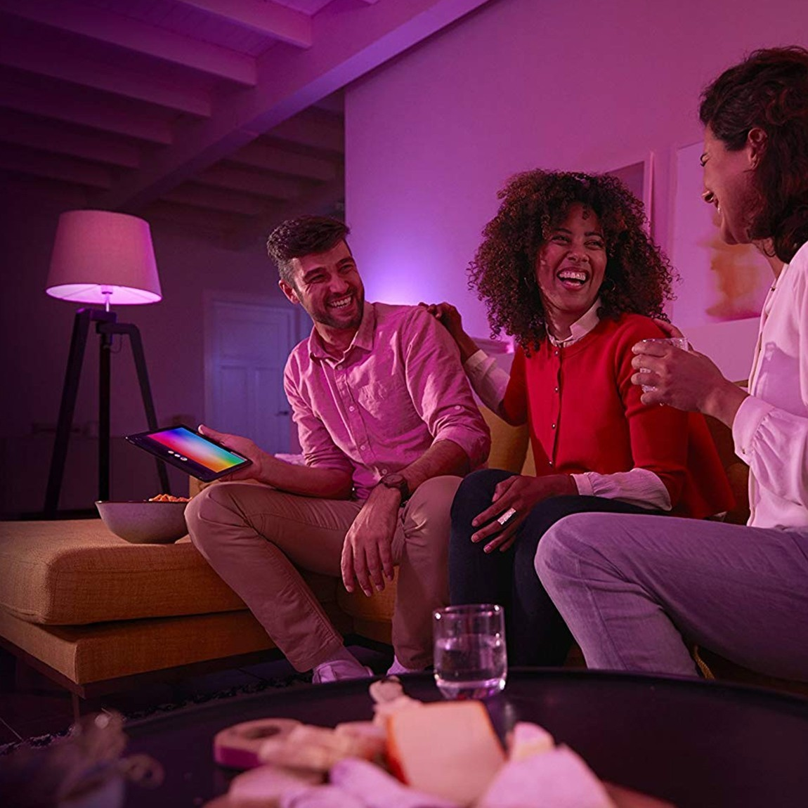 Google Nest Hub + Philips Hue White & Color Ambiance E27 Bluetooth