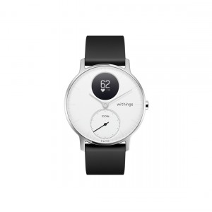 Schwarze Fitnesstracker-Uhr Nokia Steel HR Front-Ansicht