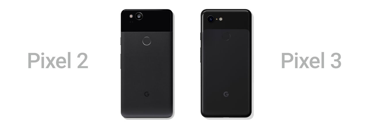 Google Pixel und und 3 nebeneinander