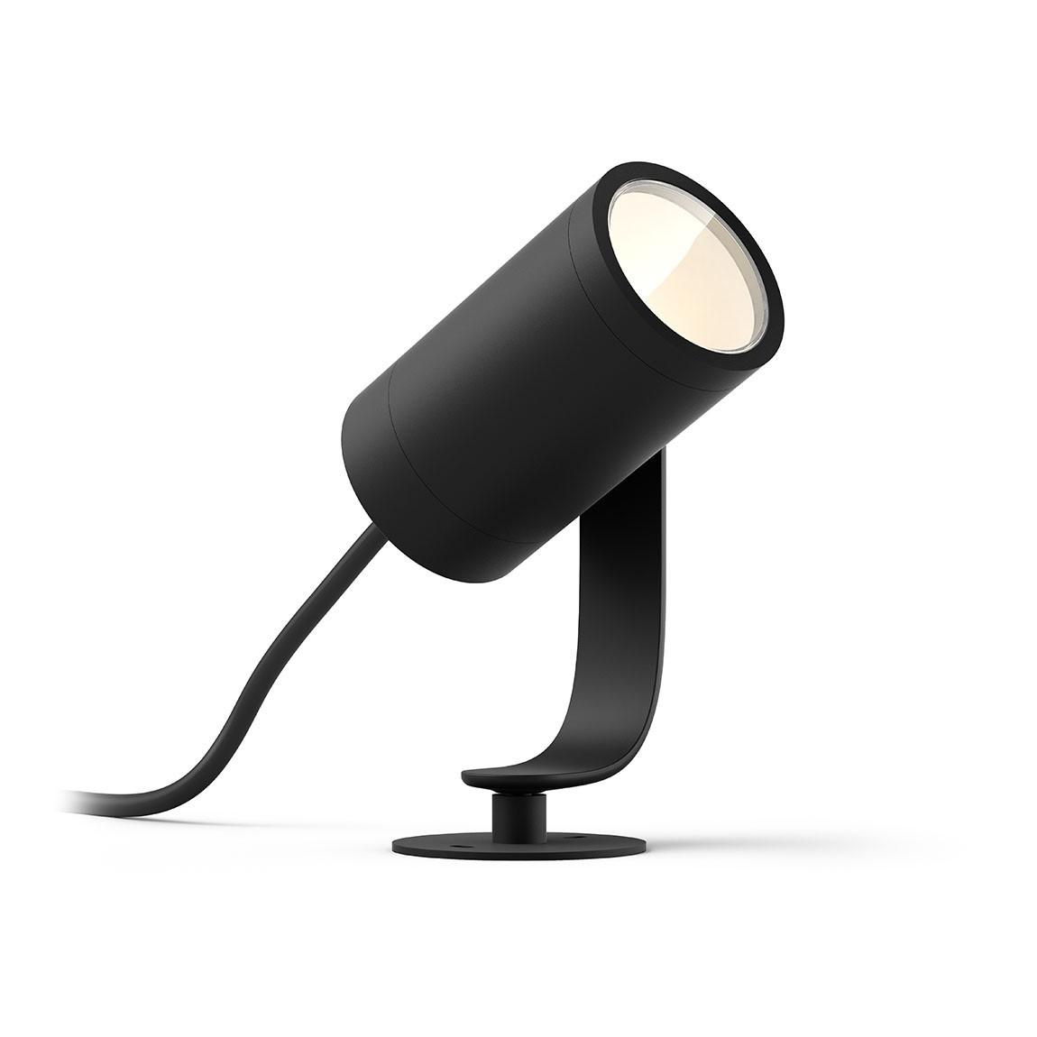 Philips Hue LED Spot Lily 1flg. 700lm Base Kit - Schwarz