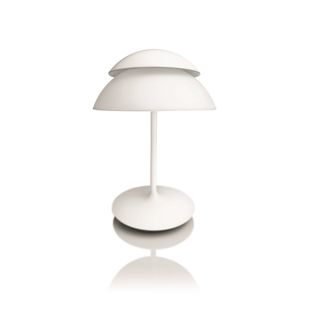 Philips Hue White and Color Ambiance Beyond Tischleuchte in weiß in schräger Ansicht