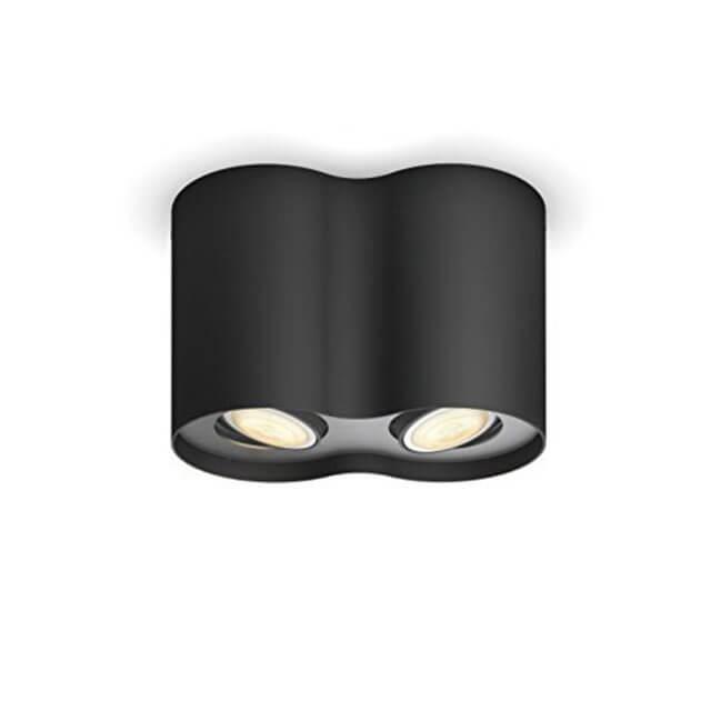 Philips Hue Pillar LED 2-er Spot 2x250lm in schwarz