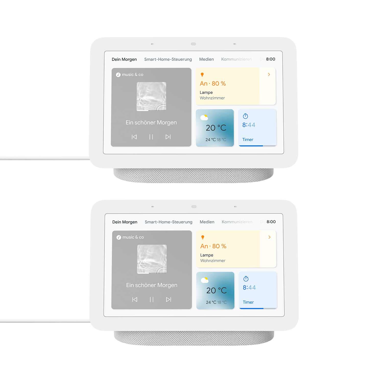 Google Nest Hub (2. Generation) 2er-Pack – Smart Display mit Sprachsteuerung