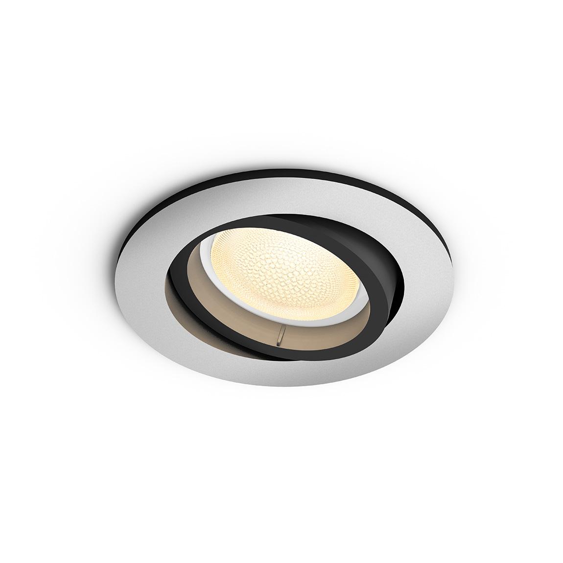 Philips Hue White & Color Ambiance Centura Bluetooth - Einbauspot, rund - Grau