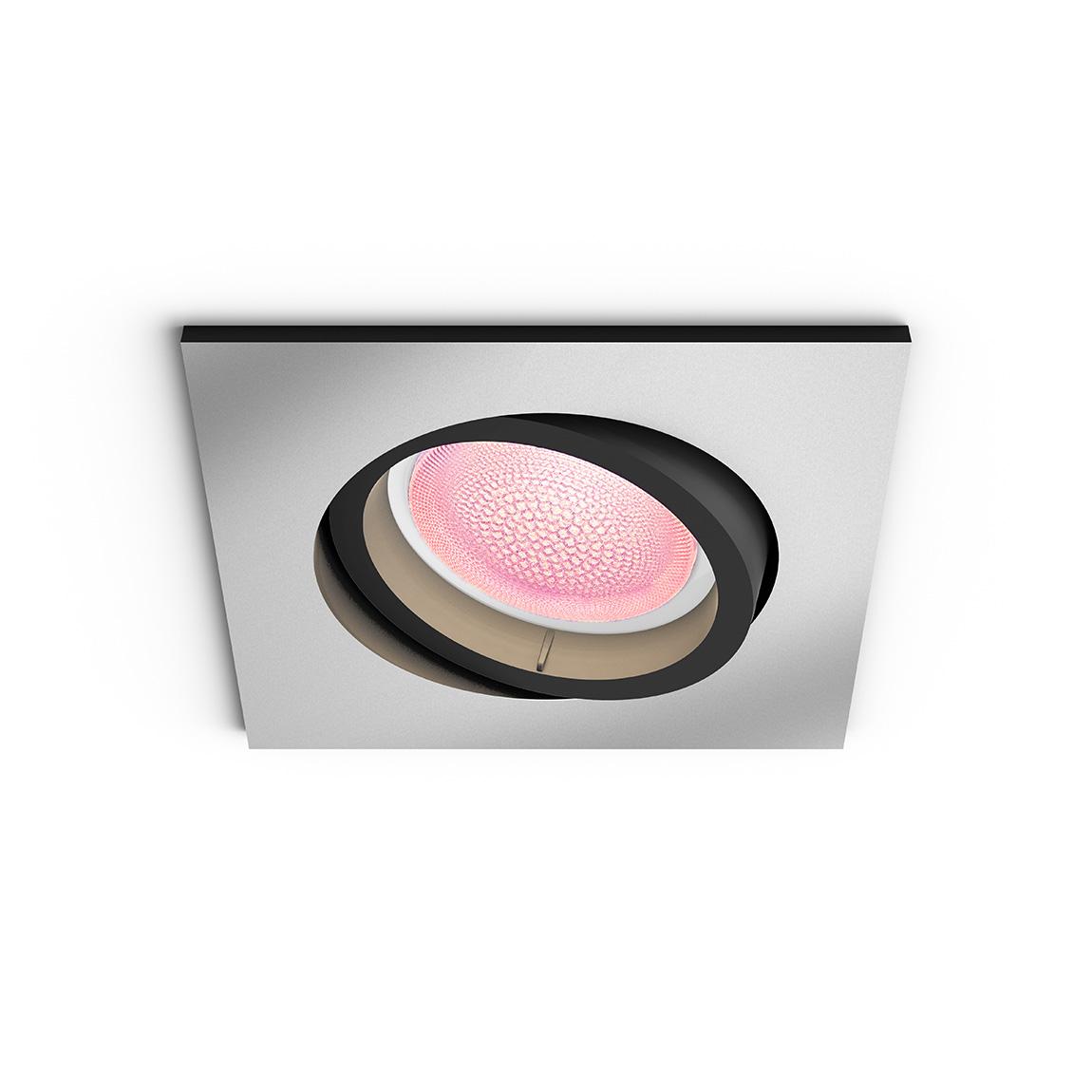 Philips Hue White and Color Ambiance Centura Bluetooth - Einbauspot, eckig - Grau