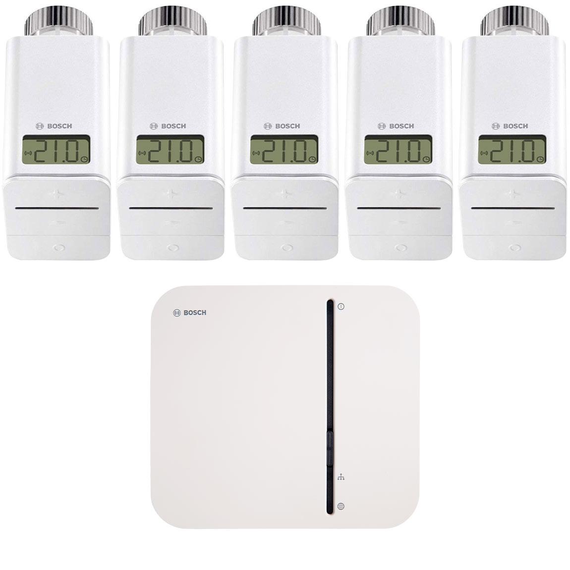 Bosch Smart Home – Starter Set Heizung mit 5 Thermostaten