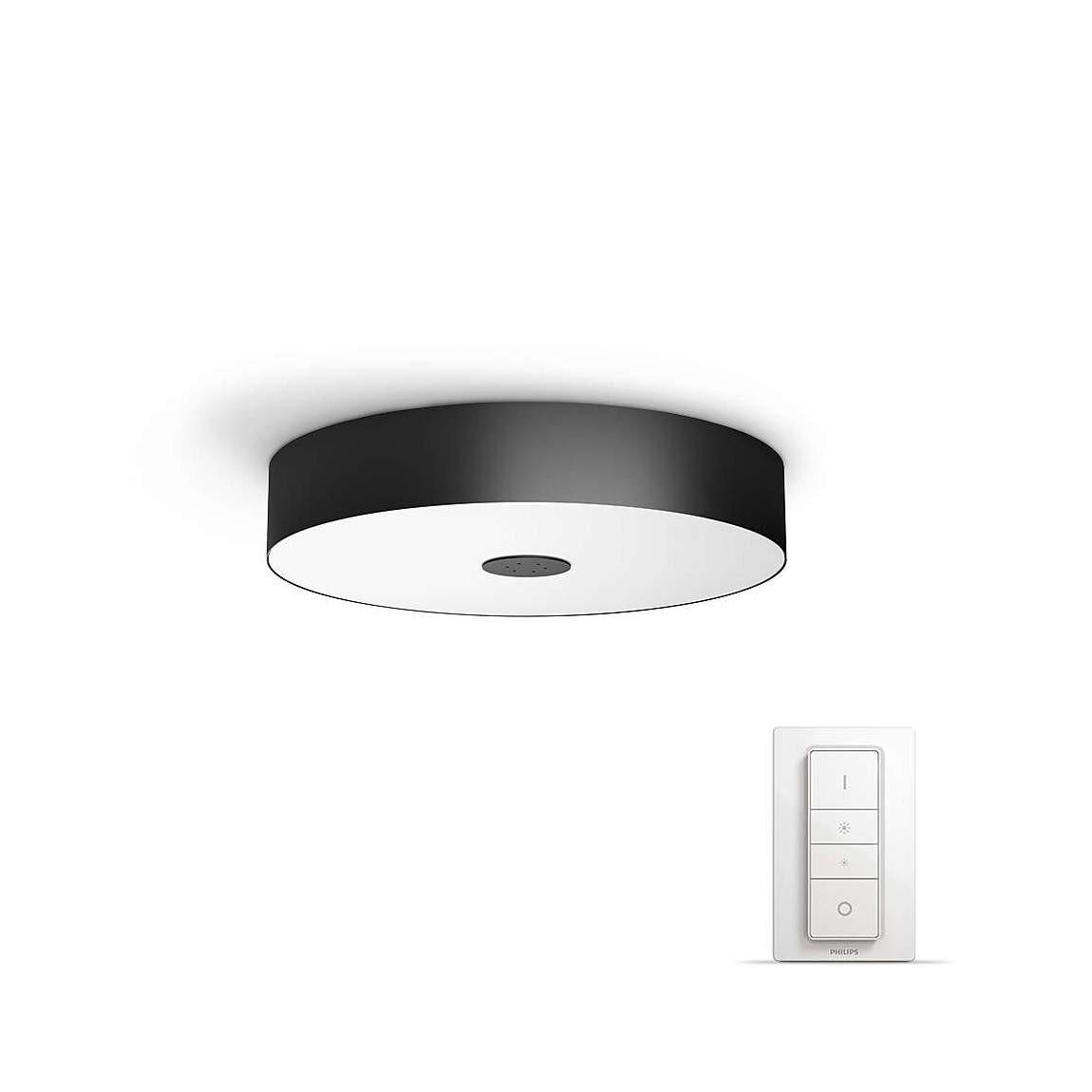 Philips Hue White Ambiance Fair - Deckenleuchte + Dimmschalter schwarz