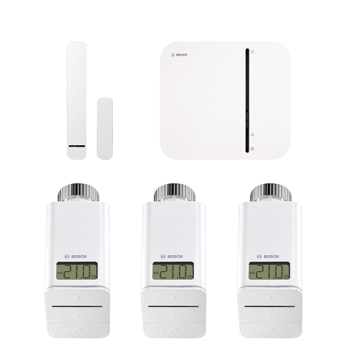 Bosch Smart Home - Starter Set Heizung + Tür-/Fensterkontakt + gratis Twinguard + Twist