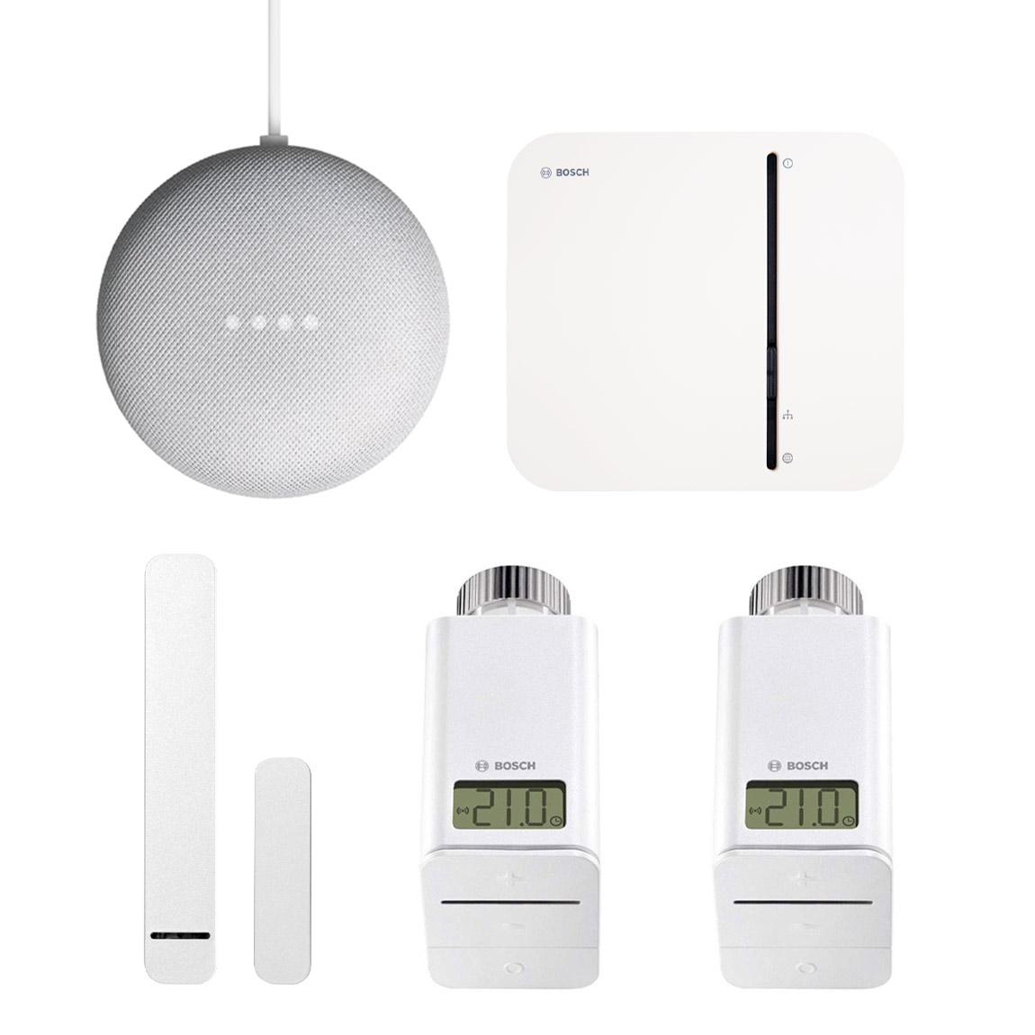 Bosch Smart Home - Starter Set Raumklima + gratis Google Nest Mini + gratis Twinguard + Twist