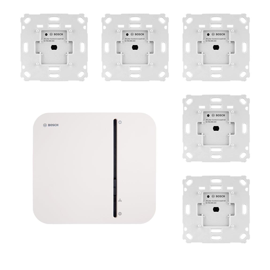 Bosch Smart Home – Starter Set Rollladensteuerung mit 5 Unterputz-Aktoren