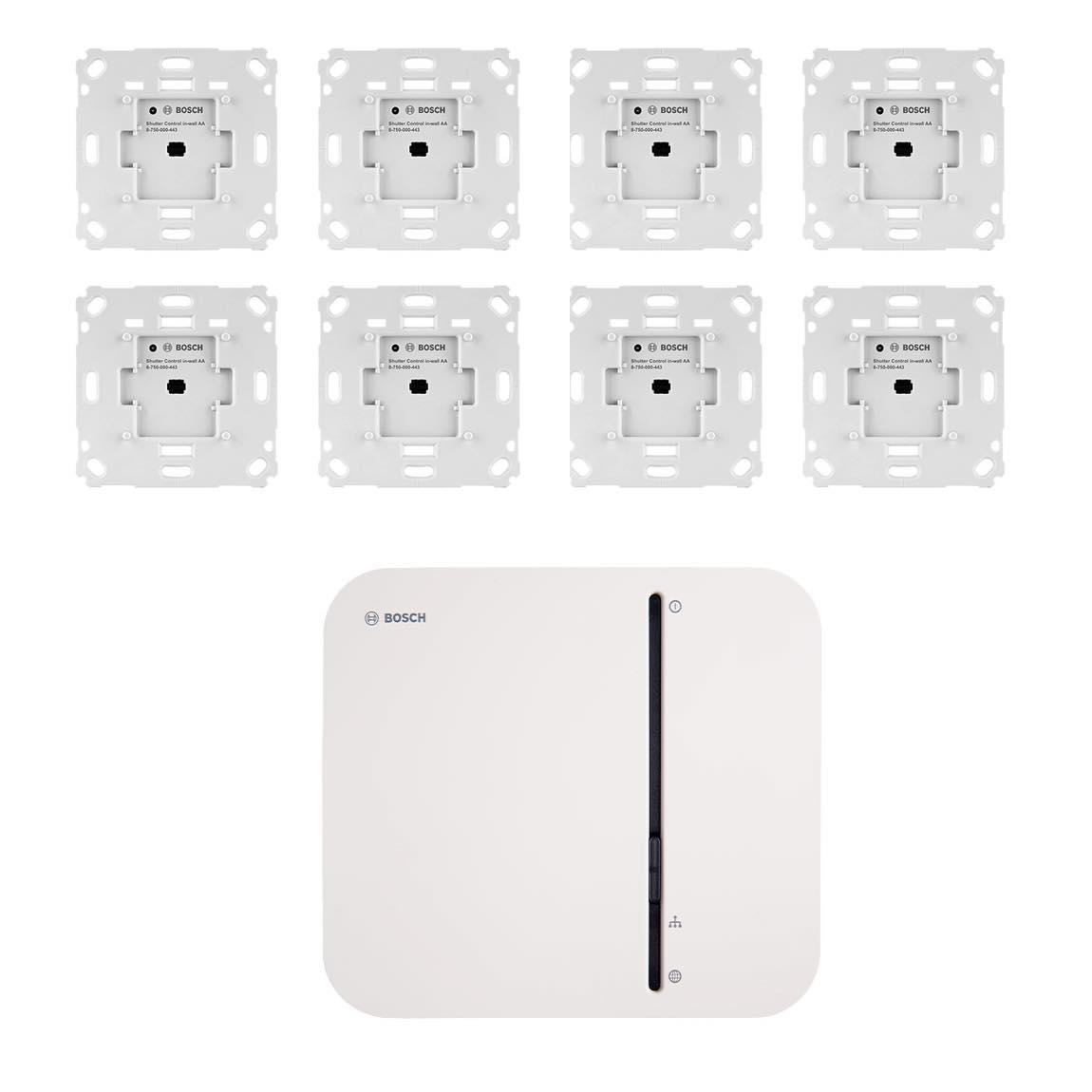 Bosch Smart Home – Starter Set Rollladensteuerung mit 8 Unterputz-Aktoren