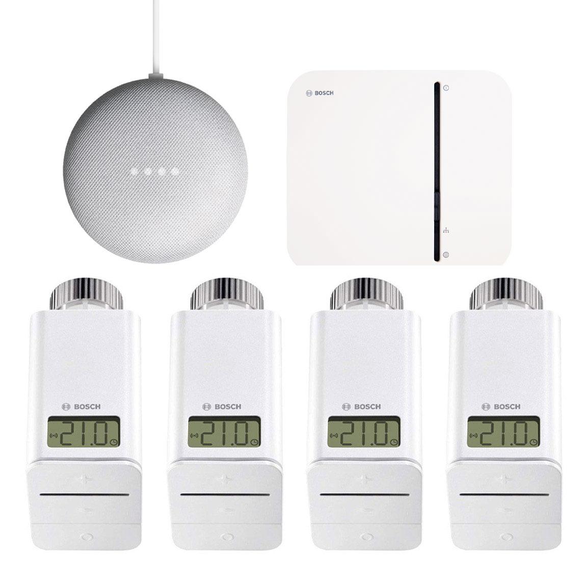 Bosch Smart Home - Starter Set Heizung + gratis Google Nest Mini + gratis Twinguard + Twist