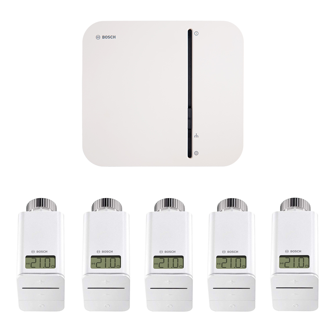Bosch Smart Home - Starter Set Heizung mit 4 Thermostaten + gratis Twinguard + Twist