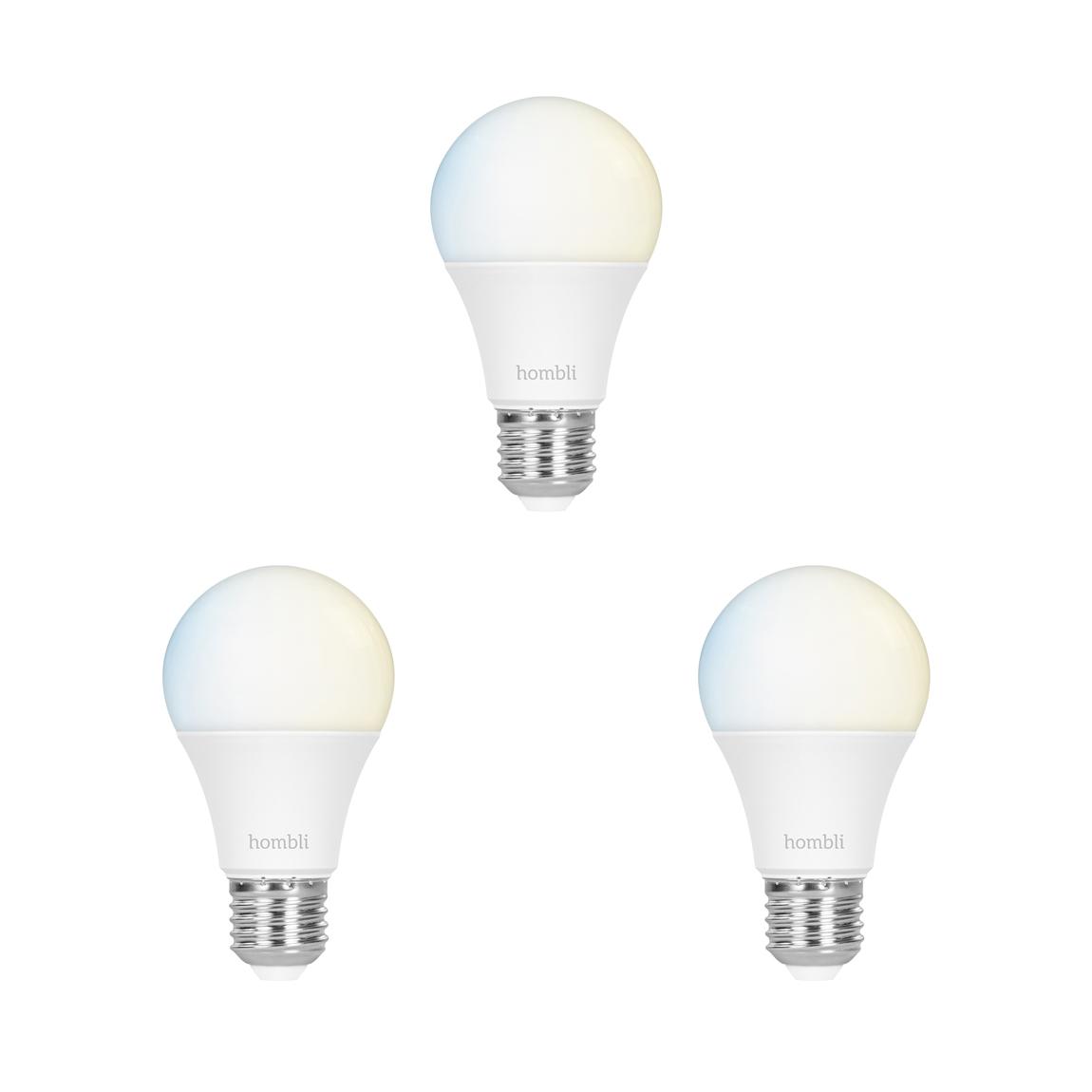 Hombli Smart Bulb E27 White-Lampe 3er-Set