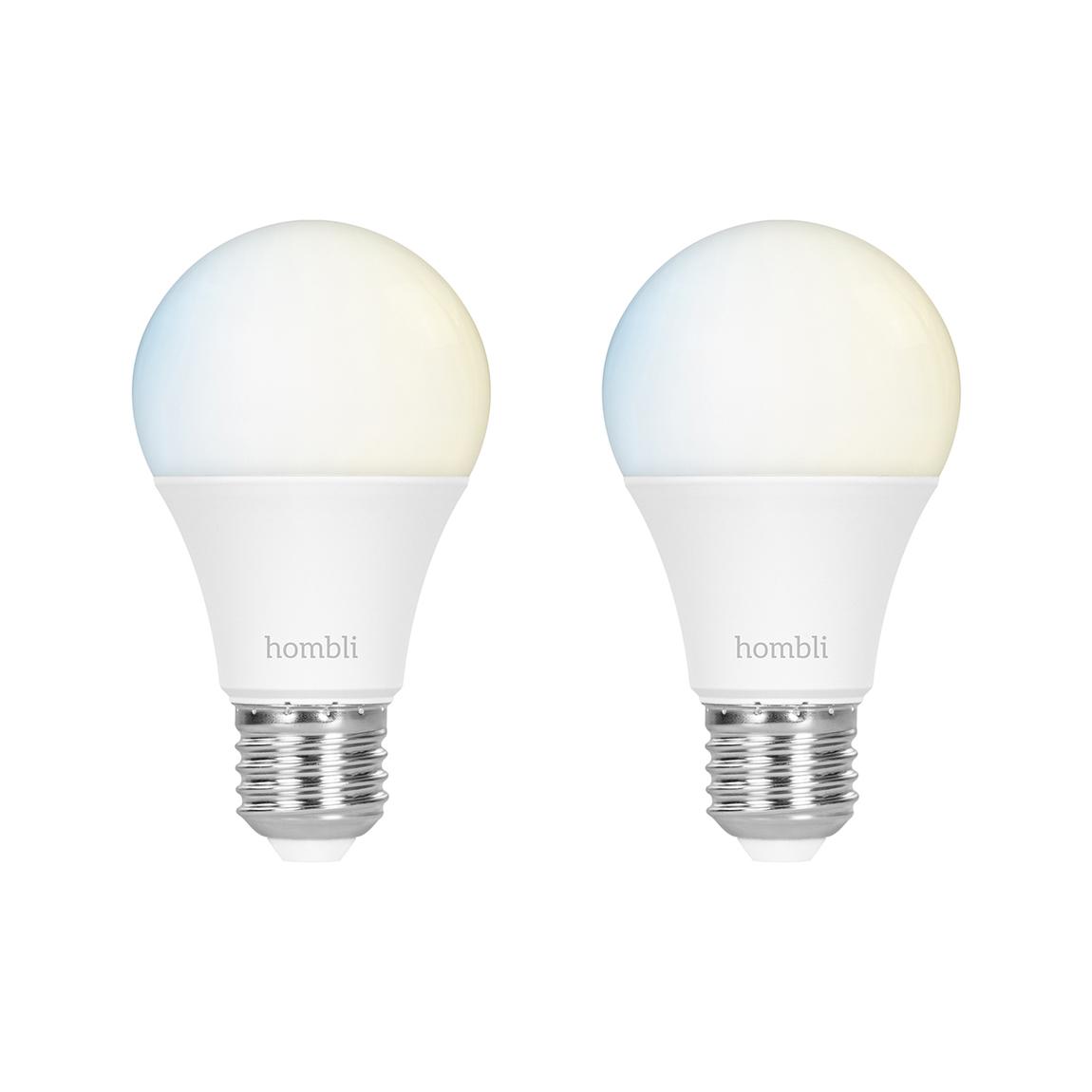 Hombli Smart Bulb E27 White-Lampe 2er-Set