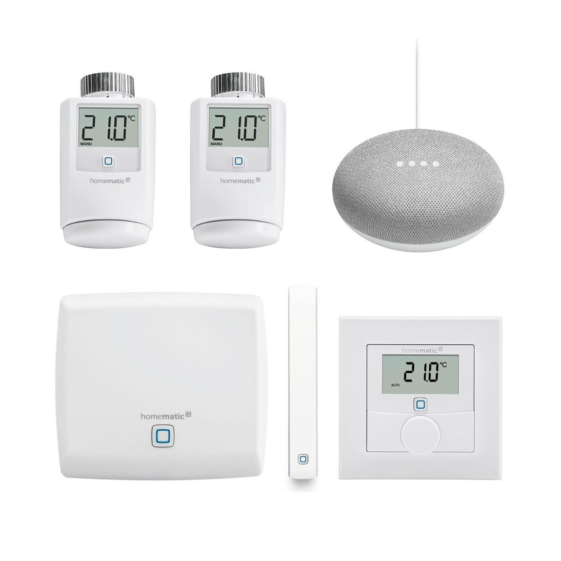 Homematic IP Starter Set Smartes Heizen Google Home Mini