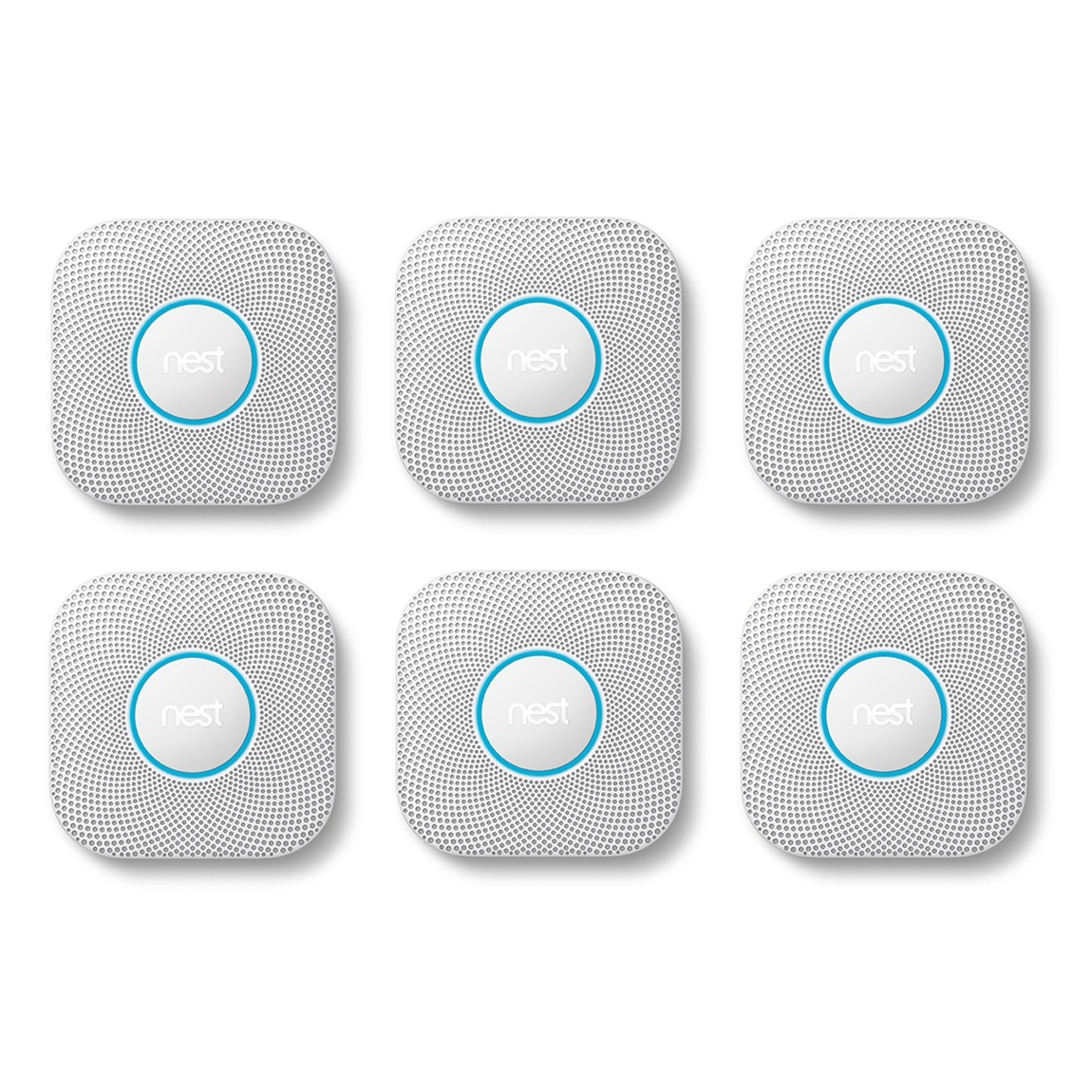Google Nest Protect 6er-Pack – Protect Rauch- und Kohlenmonoxidmelder, 2. Generation