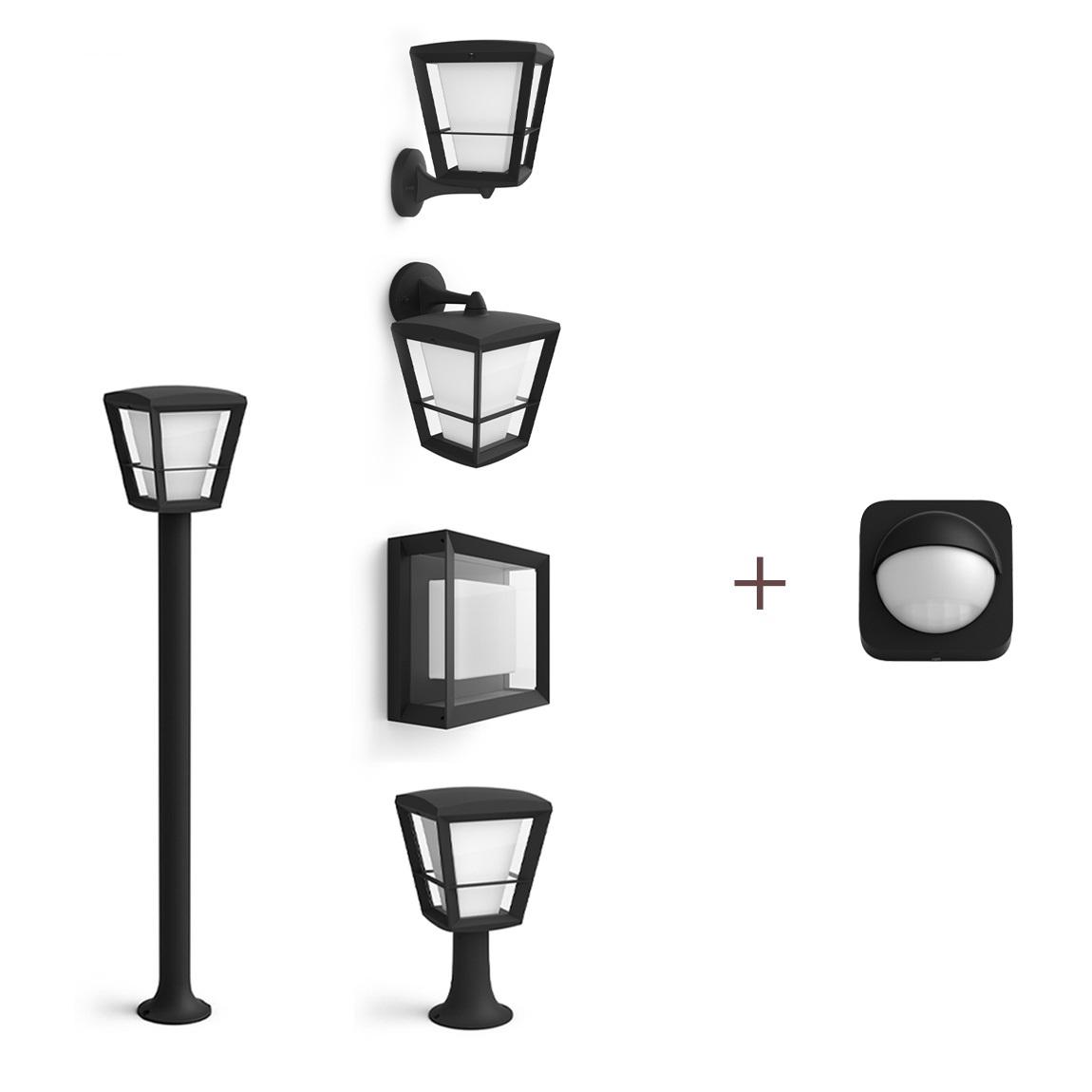 Philips Hue Econic 2er-Pack Deiner Wahl + Outdoor Sensor
