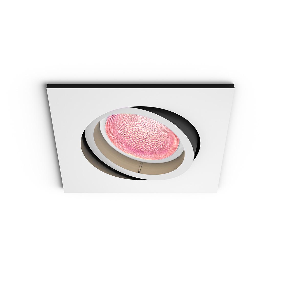 Philips Hue White & Color Ambiance Centura Bluetooth - Einbauspot, eckig