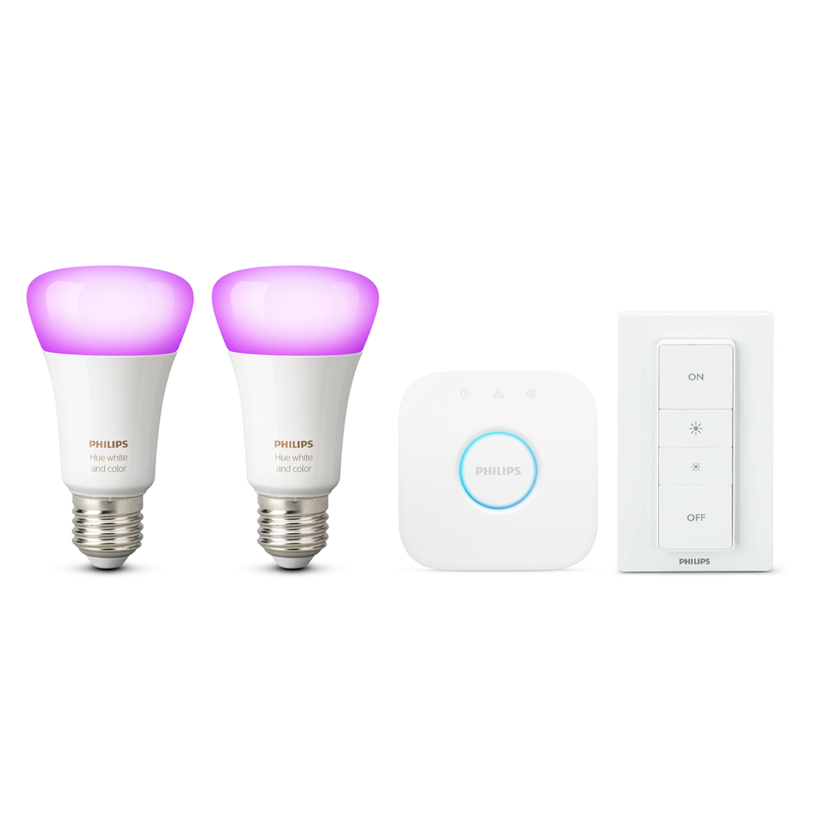 Philips Hue White & Color Ambiance E27 Bluetooth Starter Kit Weiß