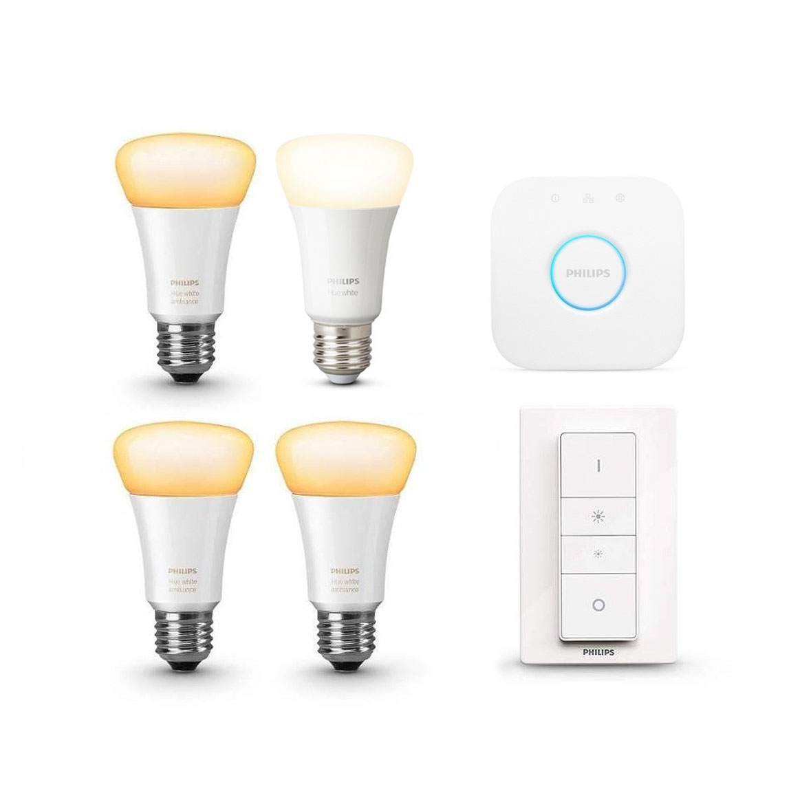 Philips Hue White Ambiance E27 Bluetooth Starter Kit + gratis Lampe
