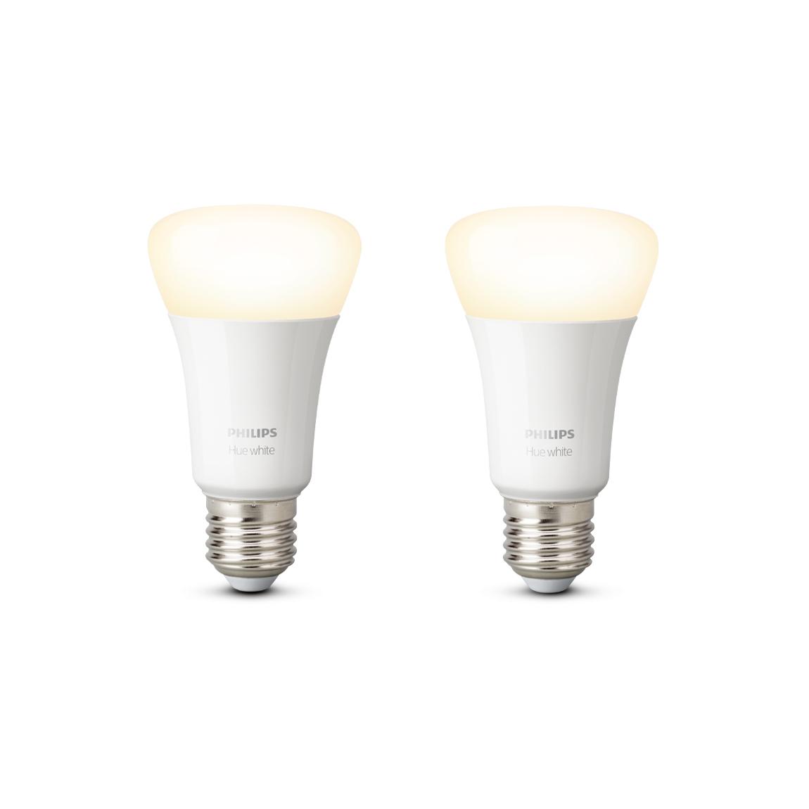 Philips Hue White E27 Bluetooth 2er Set - LED-Lampe - Weiß