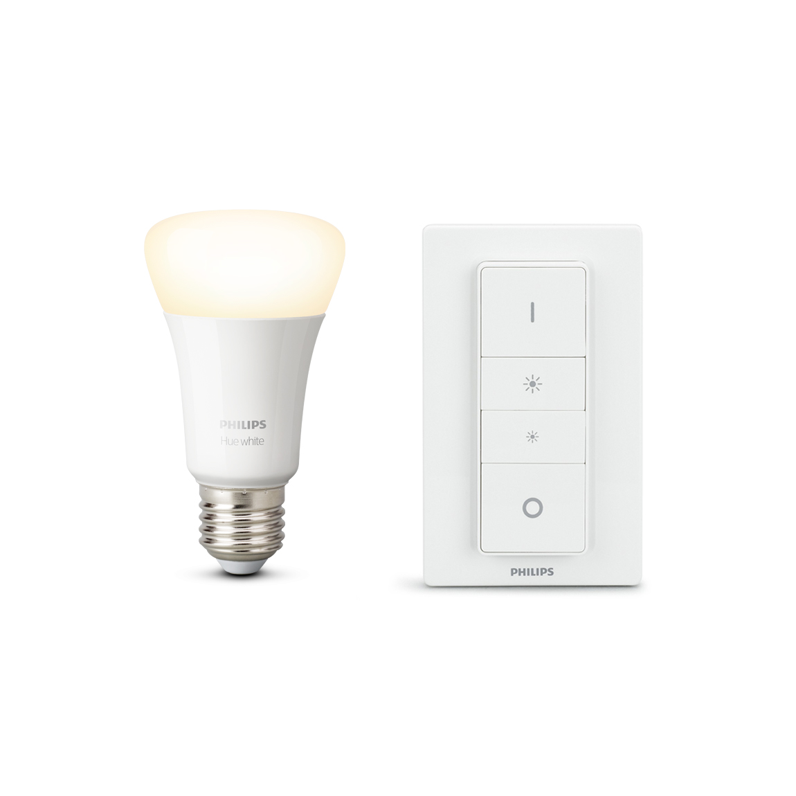 Philips Hue White E27 Bluetooth Dimmer Kit - Lample inkl. Dimmschalter - Weiß