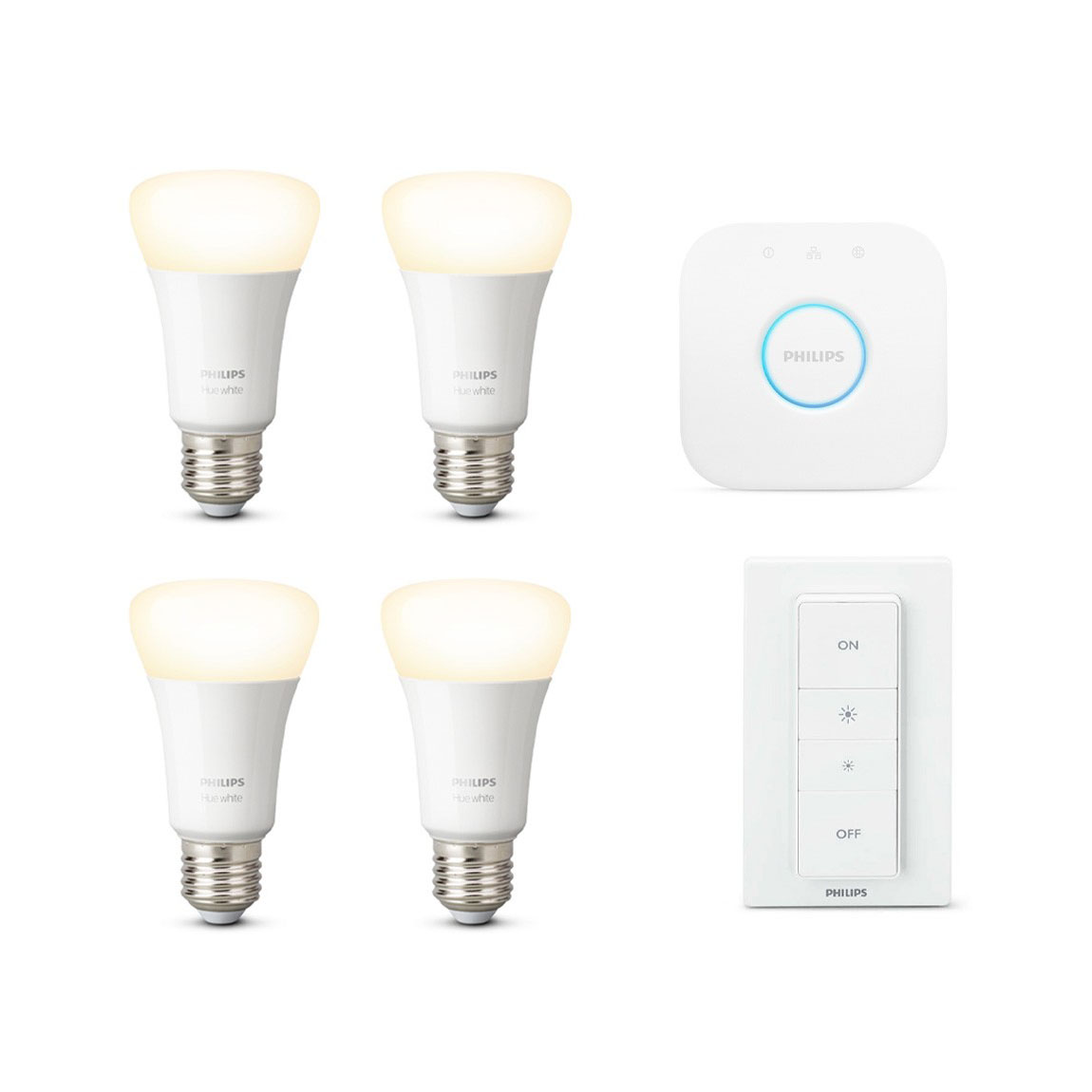 Philips Hue White E27 Bluetooth Starter Kit + gratis Lampe