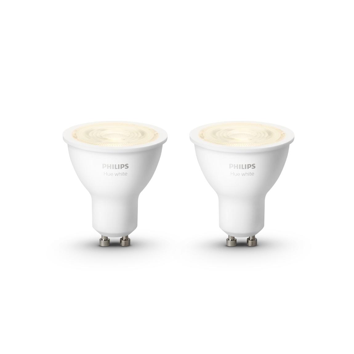 Philips Hue White GU10 Bluetooth 2er Set - LED-Spot - Weiß