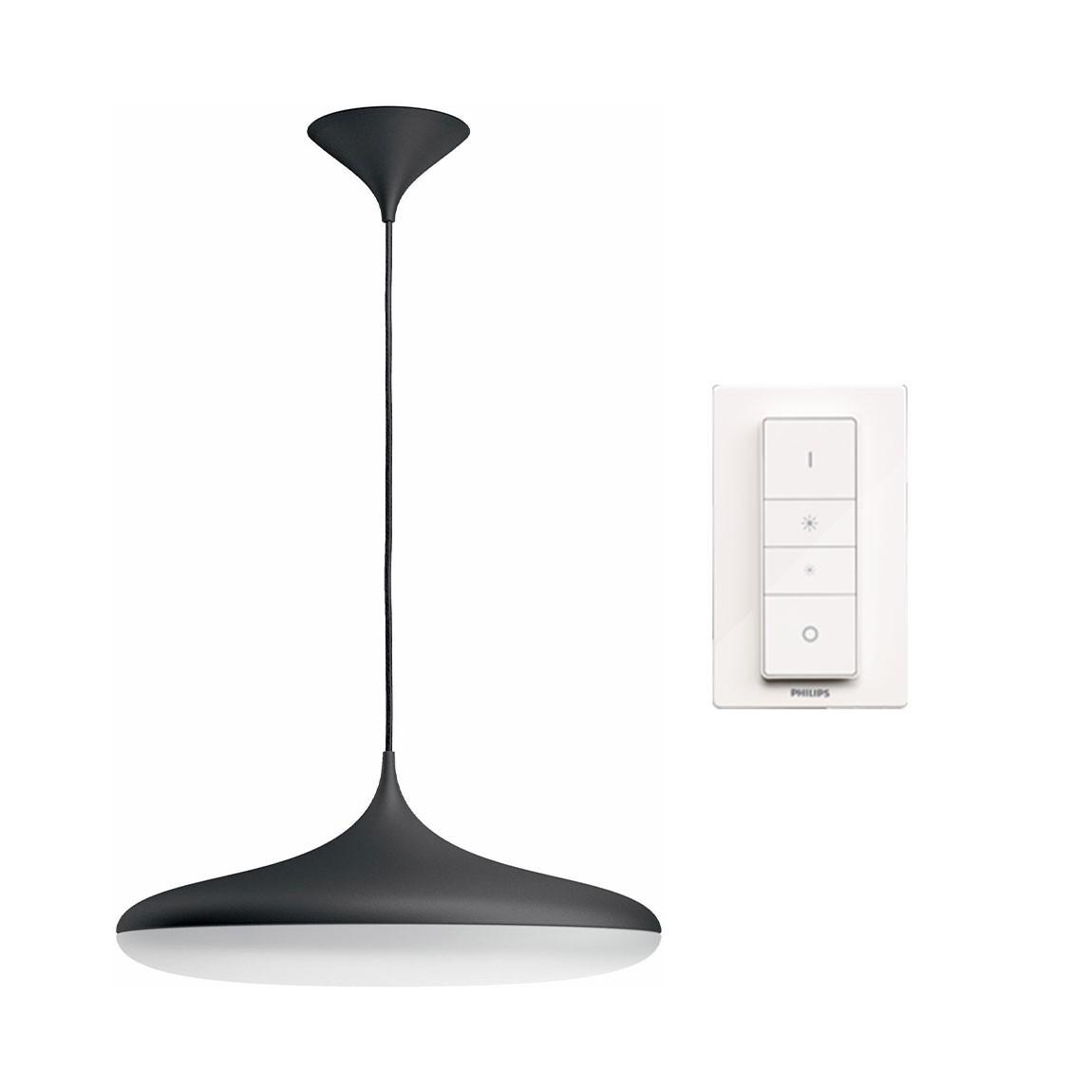 Philips Hue Cher Bluetooth LED Pendelleuchte 3000lm inkl. Dimmschalter - Schwarz