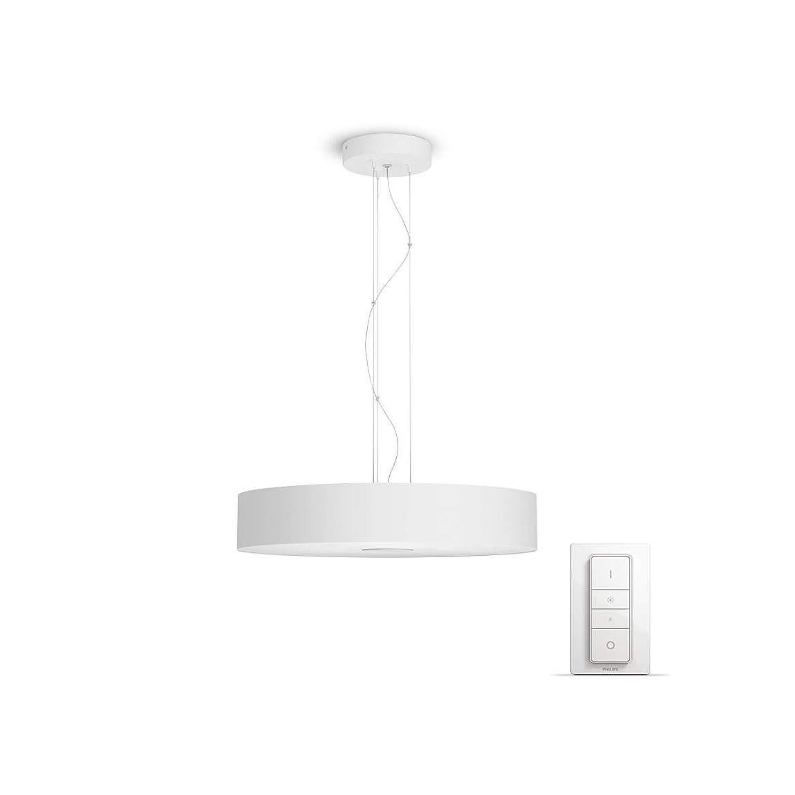 Philips Hue White Ambiance Fair - Pendelleuchte & Dimmschalter - Weiß