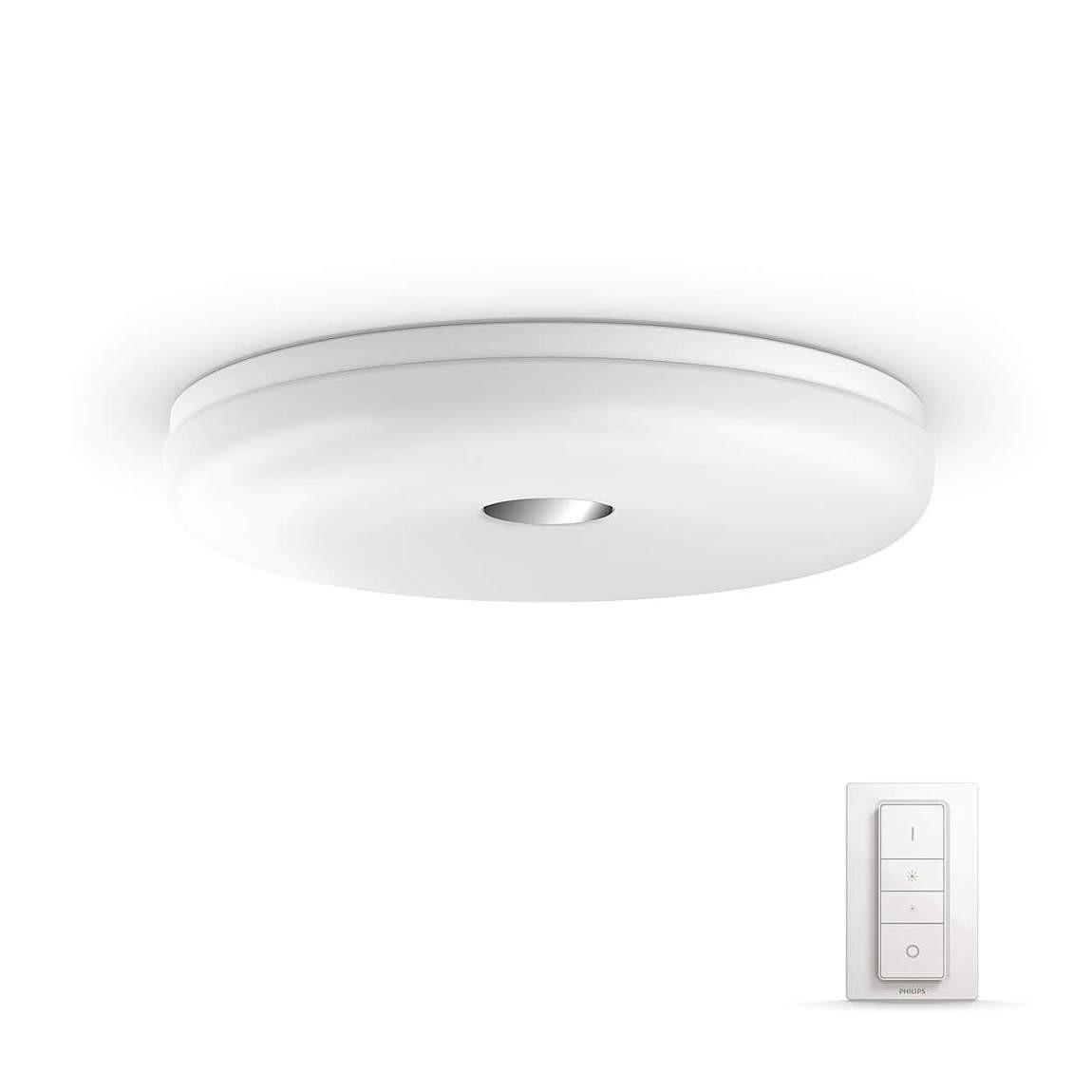 Philips Hue White Ambiance Struana - LED-Deckenleuchte + Dimmschalter