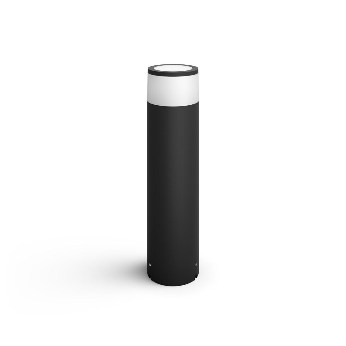 Philips Hue LED Sockelleuchte Calla + Erweiterung für Niedervolt-System - Schwarz
