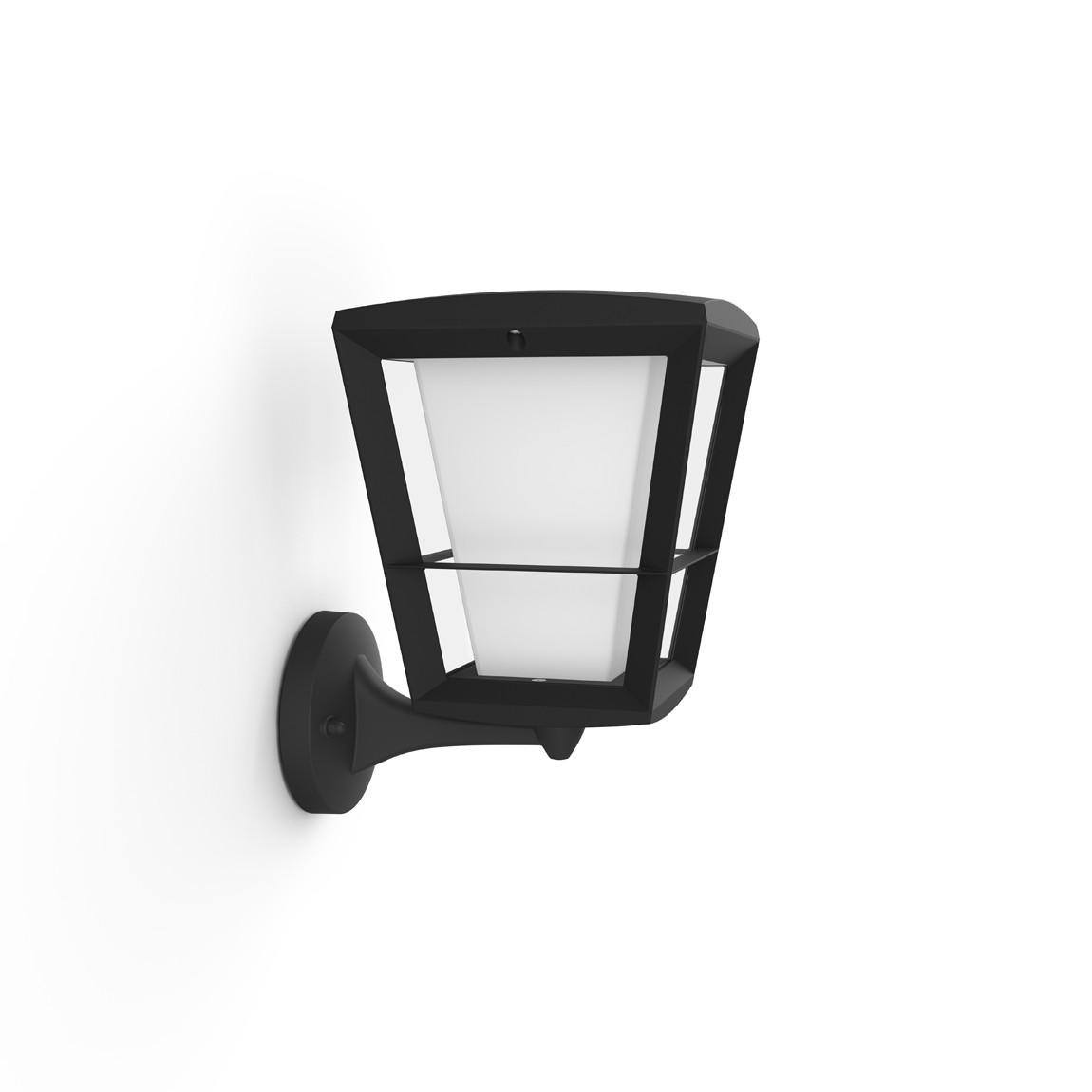 Philips Hue LED Wandleuchte Laternenform Stehend Econic - Schwarz