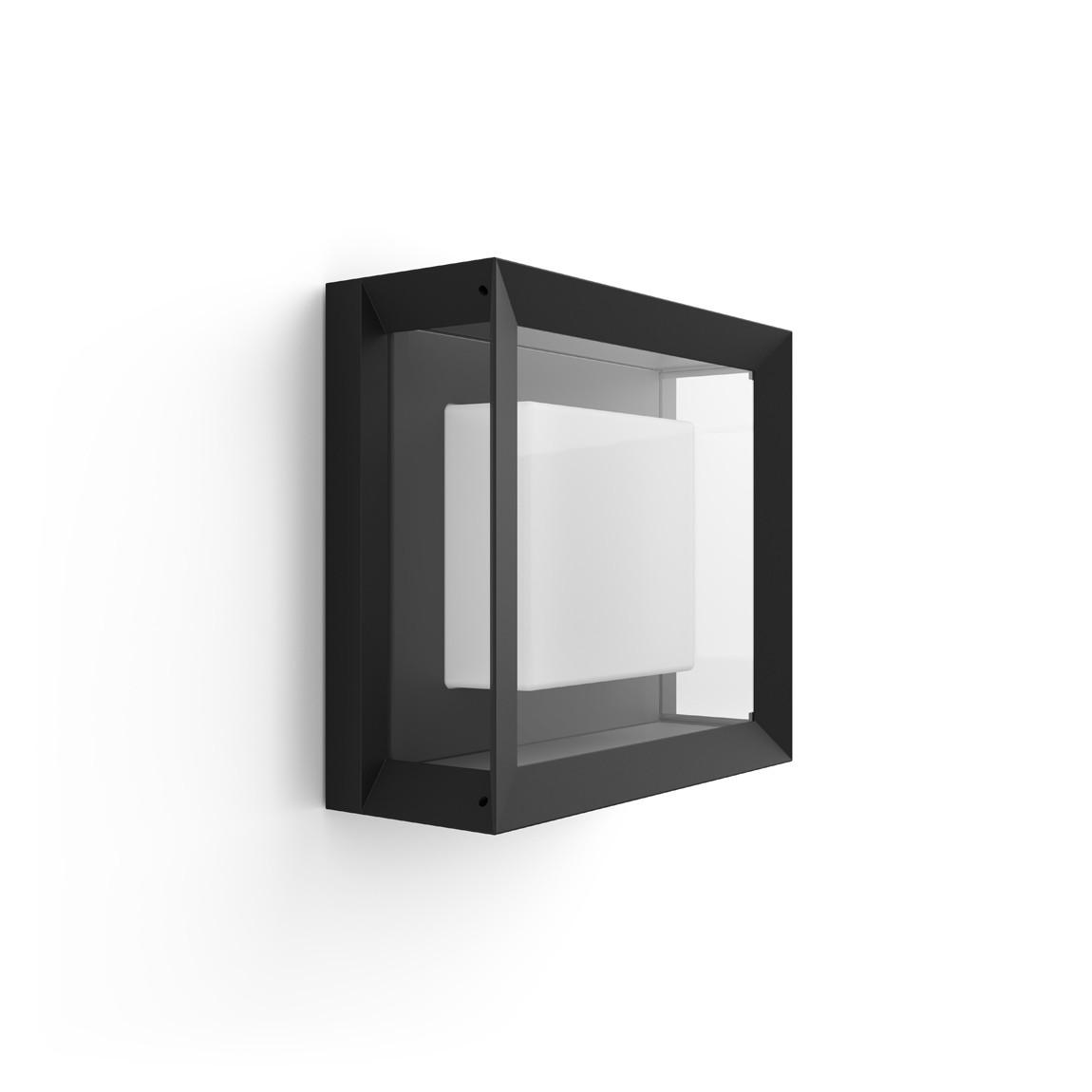 Philips Hue LED Wandleuchte Quadratisch Econic - Schwarz