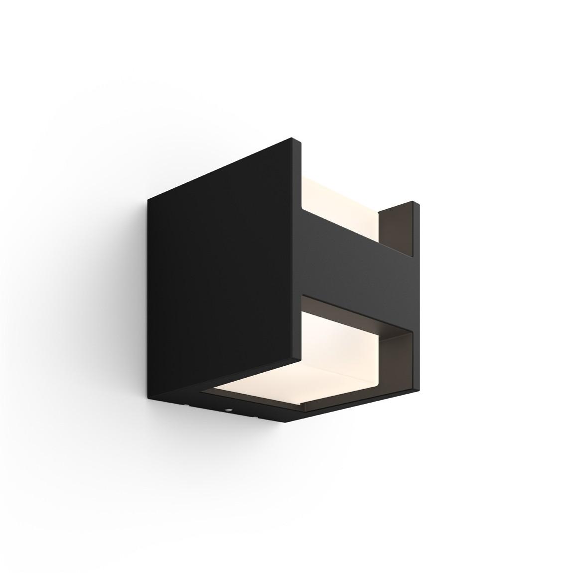 Philips Hue LED Wandleuchte Quadratisch Oben/Unten Fuzo - Schwarz