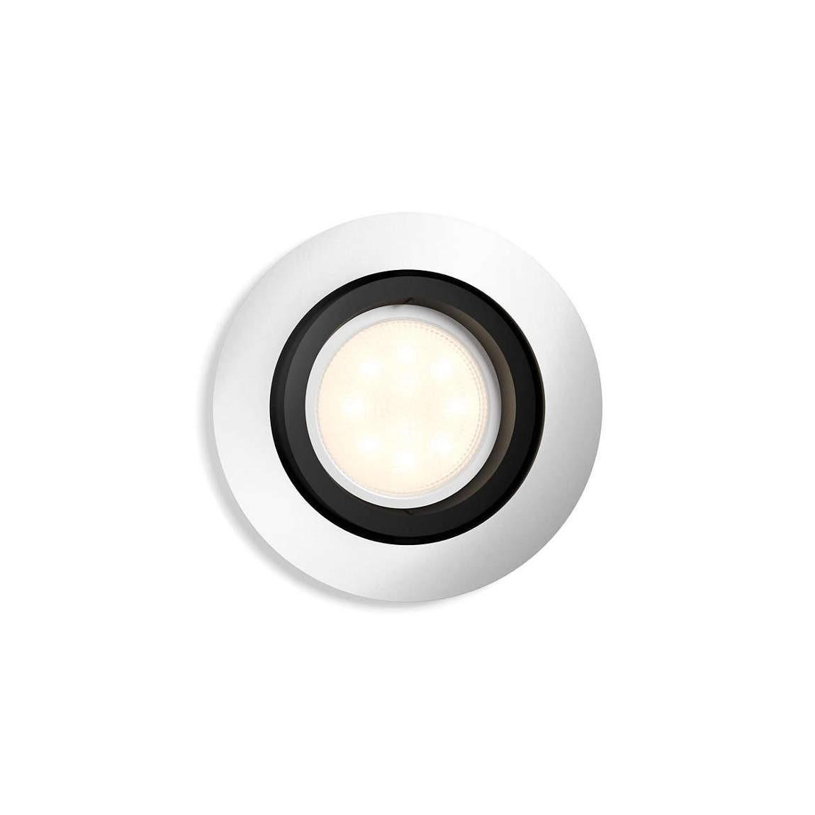 Philips Hue White Ambiance Milliskin - Einbauspot zur Erweiterung, rund -Silver