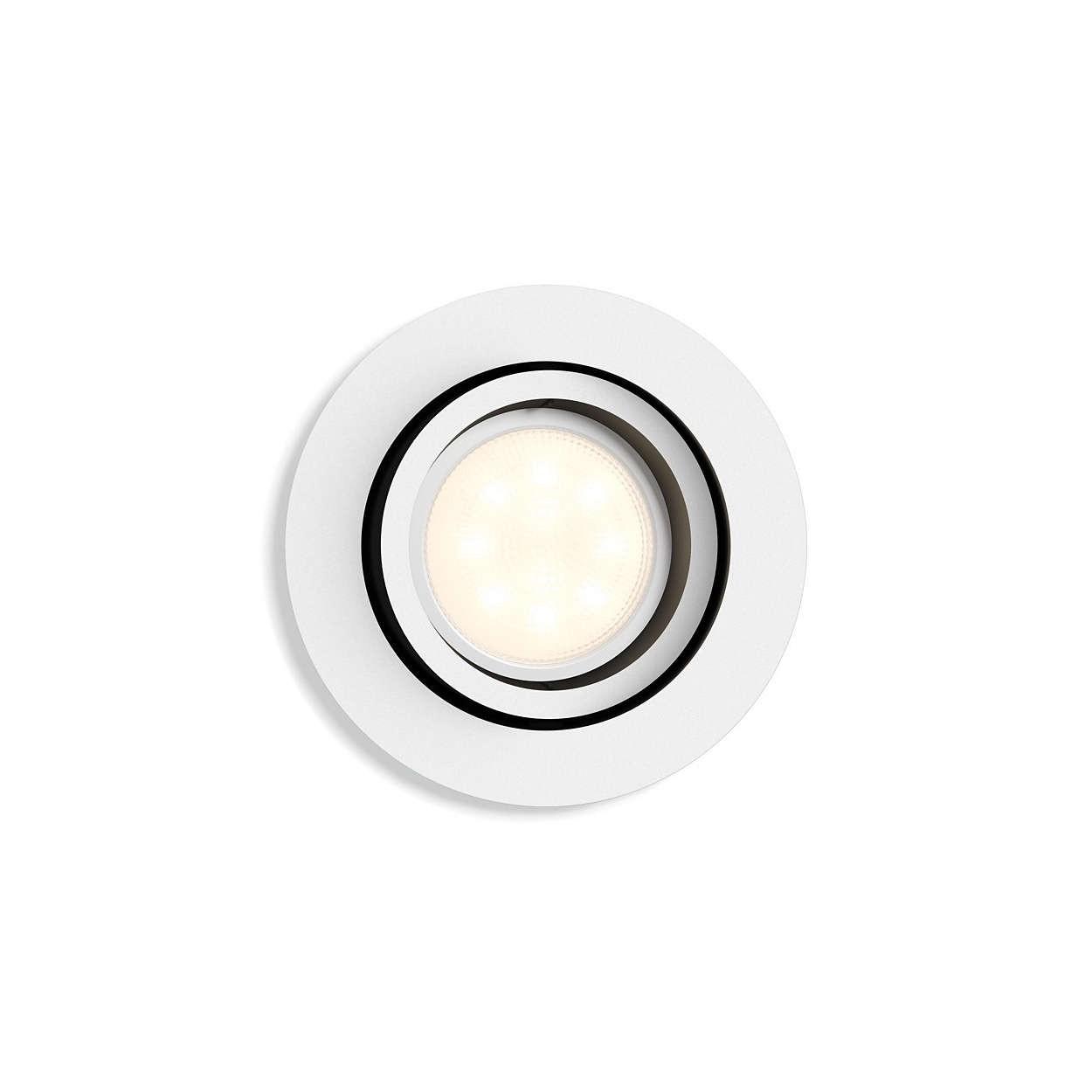 Philips Hue White Ambiance Milliskin - Spot-Erweiterung, rund, weiß