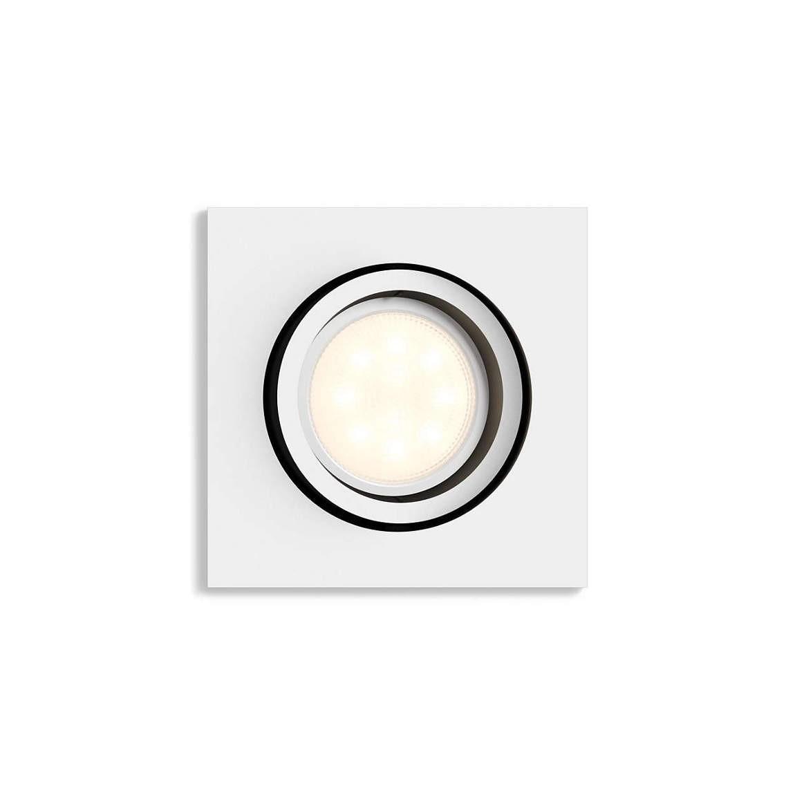 Philips Hue Milliskin Erweiterungs-Einbau-Spots viereckig - Weiß