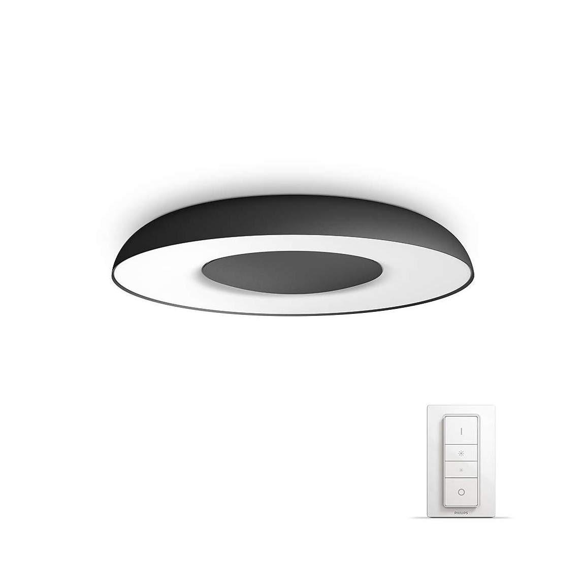 Philips Hue Still LED Deckenleuchte 2400lm & Dimmschalter - Schwarz