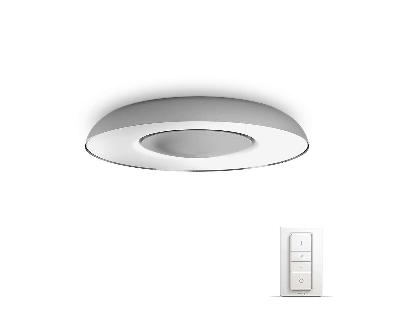 Philips Hue Still LED Deckenleuchte 2400lm inkl. Dimmschalter - Silber
