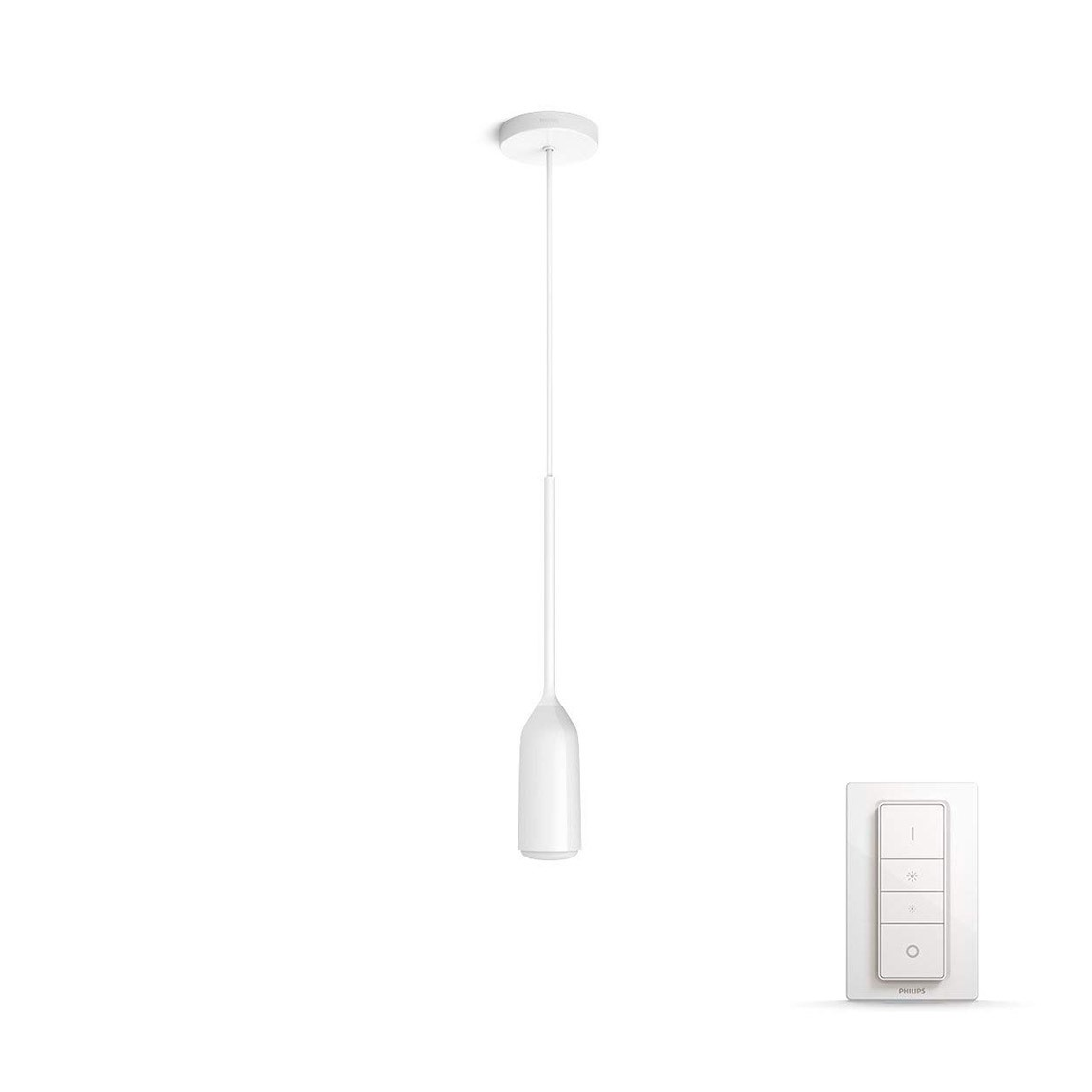 Philips Hue White Ambiance Devote Bluetooth LED-Pendellampe Dimmbar Weiß