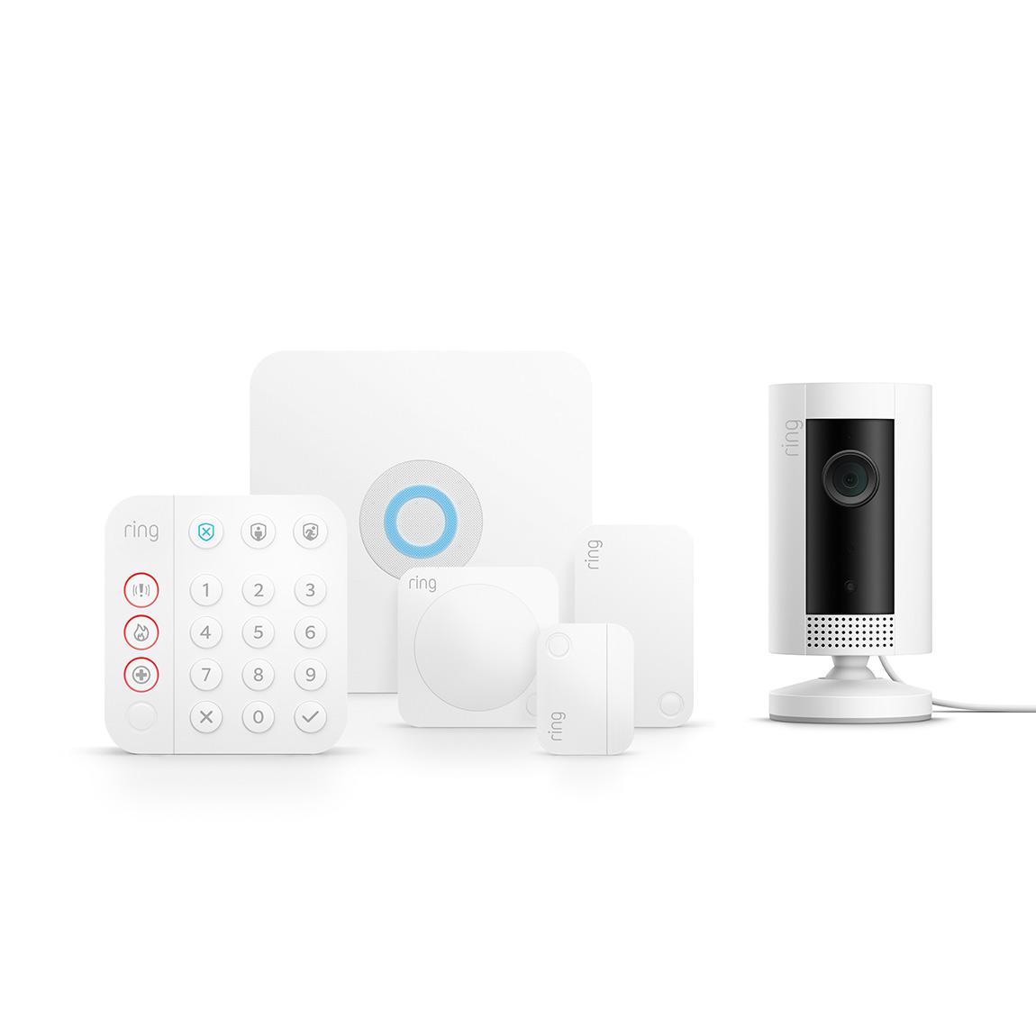 Ring Alarm 2.0 Sicherheitssystem – Komplett-Set + Ring Indoor Cam