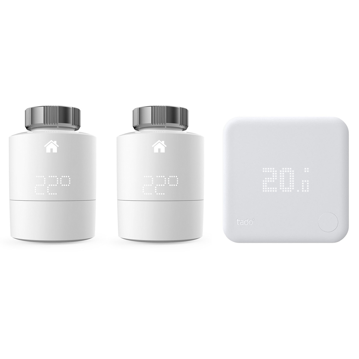 tado° Erweiterungspack mit 2er-Pack Heizkörper-Thermostat & 1 Raumthermostat