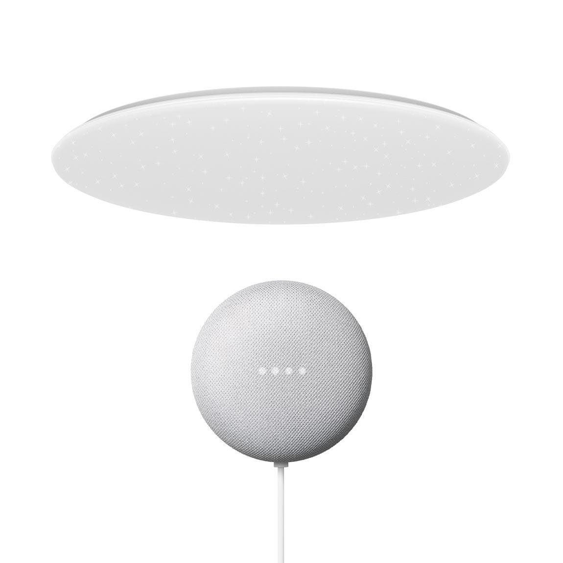Yeelight Galaxy LED Deckenleuchte 480 - Sternoptik+ Google Nest Mini