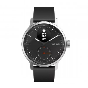 Withings ScanWatch - Hybrid-Smartwatch mit EKG-Funktion & Schlafapnoe-Erkennung frontal