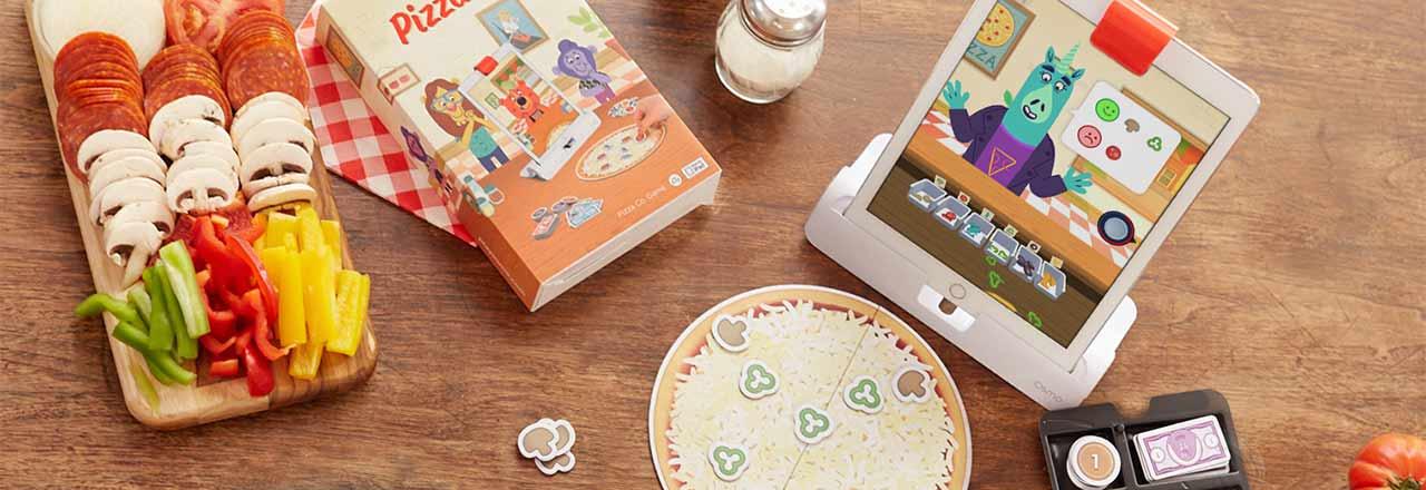 Osmo Picca Co. Spielset mit geöffneter App auf Tablet